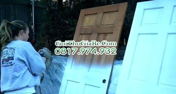 Thợ sơn cửa gỗ, Sơn sửa gồ đỗ giá Rẻ