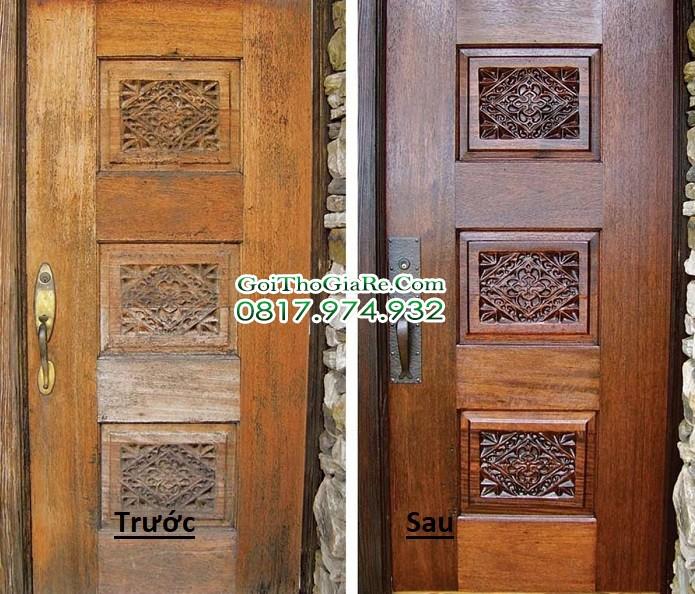 Sơn lại cửa gỗ cũ, Bóng, Đẹp, Rẻ, tại Hà Nội