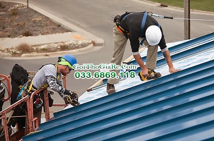 Đội thợ làm mái tôn chuyên nghiệp nhiều kinh nghiệm