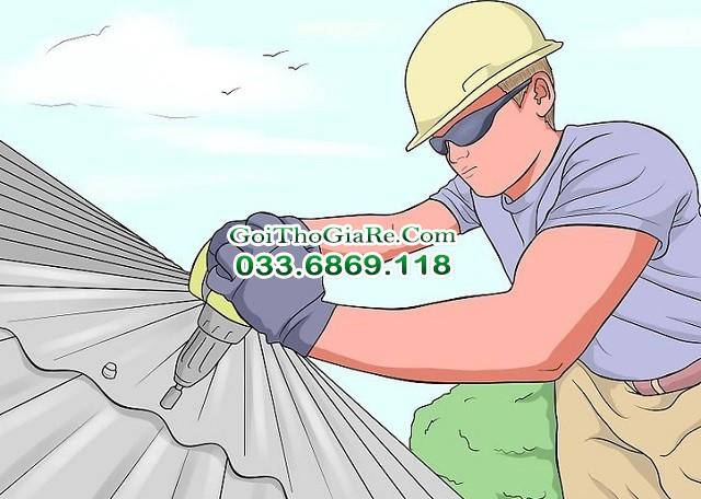 Gọi thợ làm mái tôn trọn gói giá rẻ tại Hà Nội