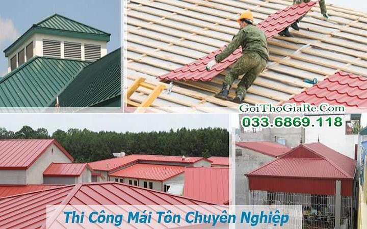 Nhận thay mái tôn chống nóng cho nhà dân dụng giá rẻ
